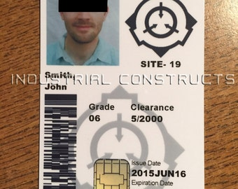 Custom SCP Foundation ID Card / Badge - Secure, Contain, Protect Foundation - CAC Style