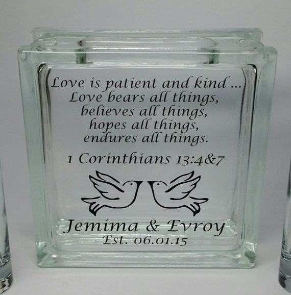 Wedding Reading Love Is Patient: Wedding Sand Ceremony Set Unity Sand Set By