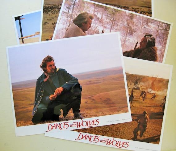 "Five large 14"" x 11"" Dances with Wolves color movie stills. 1990 Orion Pictures. Kevin Costner. Graham Greene."