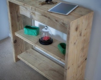 Console table, made from reclaimed timber.