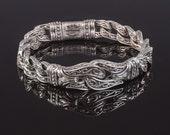 Silver Engraved Link Bracelet