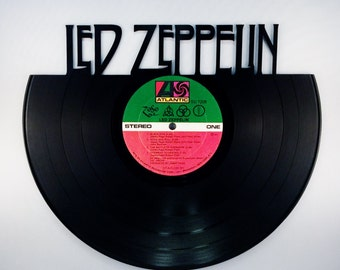 Recycled Vinyl Record LED ZEPPELIN Wall Art