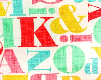 Vintage Letter ABC 100% Cotton Fabric By Michael Miller – Sold By The Yard 5502
