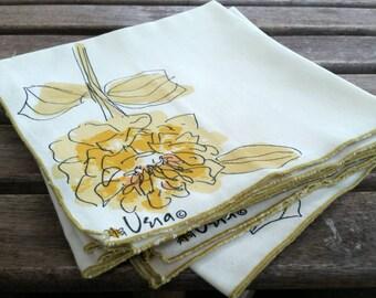 Vera Neumann modern flower napkins