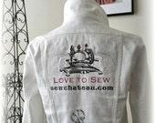 Love To Sew Custom Embroidered Denim Jacket