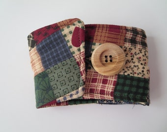 Patchwork Insulated Coffee Sleeve/Coffee Cozy/Beverage Sleeve