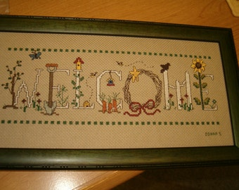 COUNTED CROSSSTITCH WELCOME picture