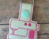 Sewing Machine snap tab key chain SALE