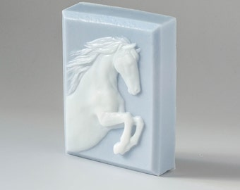 Rearing Horse glycerin soap, handmade soap, equestrian soap, equestrian gift, party favor