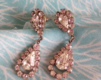 Clear Rhinestone dangle earrings