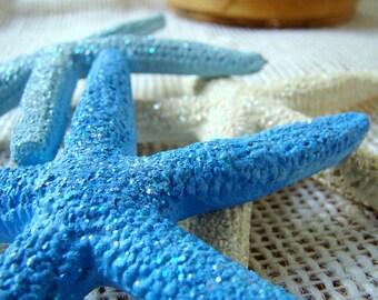 Painted Starfish, Decorated Starfish, Beach Decor, Sparkle Starfish, Wedding Starfish Decor, Beach Wedding Starfish,Painted Wedding Starfish
