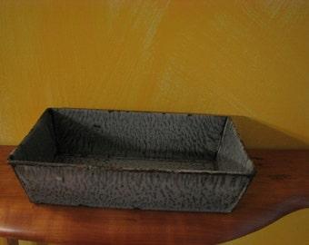 Vintage Grey Graniteware Bread Pan