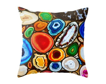 Healing Stones Print Decor Accent Pillow Cover - Throw Pillows - Decorative Pillows
