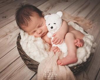Newborn photo prop crocheted buddy bear