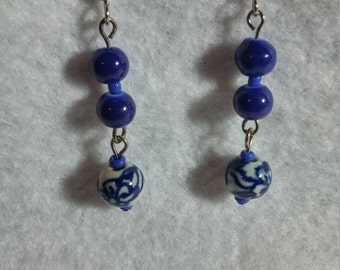 Ceramic Blue Earrings