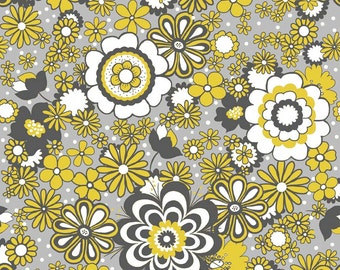 1 yard Parisian by Chelsea Anderson for Riley Blake Main yellow