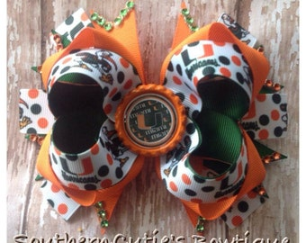 Hurricanes stacked boutique bow