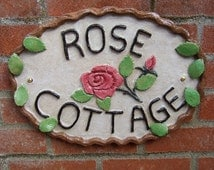 Ceramic House Name Sign - Personalised for you