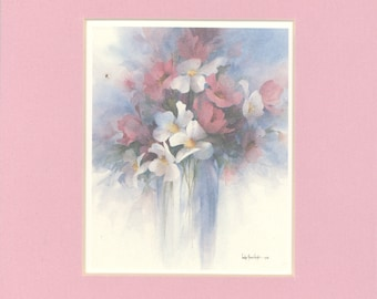 Spring Fantasy 8 x 7 matted lithograph