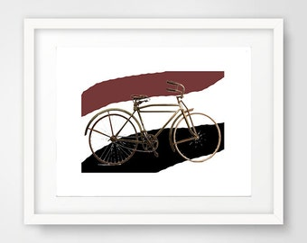 1930's, Vintage Bike, Wallart, Modern Decor
