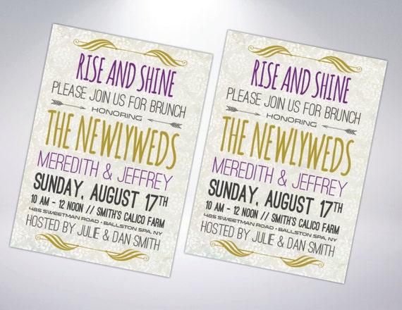 Post Wedding Brunch Invitation Wording: Post Wedding Brunch Invitation Postcard By TheDesignBrewery