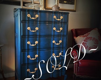 Navy French Provencial Dresser