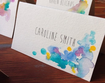 Hand-painted Custom Watercolour Placecards