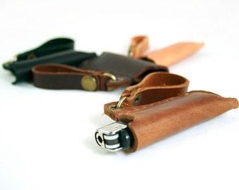 Leather Lighter Case, Bic lighter case, Bic case, Bic lighter cover, Lighter Pouch, Lighter Sleeve, Lighter Case, Lighter Case Keyring
