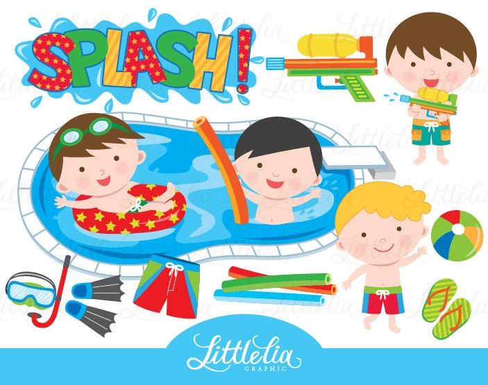 Clip Art Pool Party Clipart pool party clip art etsy boy clipart summer 15013