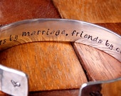 Future Sister in Law Bracelet - Wedding Jewelry - Sisters by marriage, friends by choice - Bridal