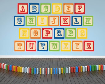 Alphabet Wall Decals - ABC Wall Decals - Nursery Wall Decals - Alphabet Wall Art - Nursery Wall Art