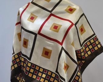 Vintage PRINTED silk scarf...(869)