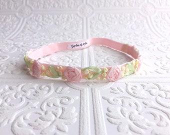 The Pink Whispering Roses Headband