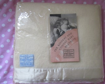 Vintage Earlywarm 100% All Wool Witney Blanket Unused In Original Packaging, Unopened, Made In Whitney England.