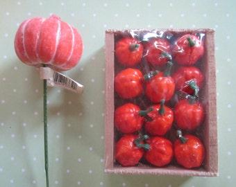 SALE Mini Pumpkin Picks/ Millinery/Floral Supplies