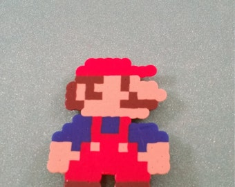 mario perler bead art magnet, rosalina perler bead art magnet, video game gift, rosalina, NES super mario brothers, super mario galaxy