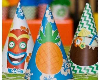 Luau Party Hats ; Luau Birthday Party; Luau Party Hats; Luau Decor;