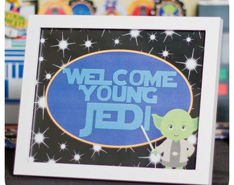 Star Wars; Star Wars Party Signs; Star Wars Birthday Signs; Star Wars decor; Star Wars Party; Star Wars Party Decor Printed, Cut, and Ship!