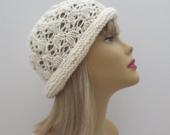 PDF 174 Vintage Lacy Hat, Hat Pattern, Knitting Pattern