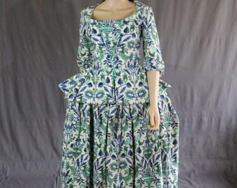 18th Century Costume Dress Set Marie Antoinette American Revolution Outlander M - L, US 10