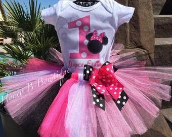 Minnie Mouse Birthday Tutu Outfit, Minnie Tutu, Minnie Mouse Tutu Set, Minnie Birthday Outfit, Minnie Mouse Birthday Set  MM6