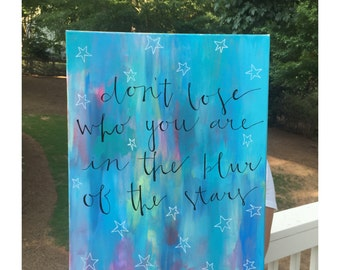 Custom Canvas Painting with Colorful Background