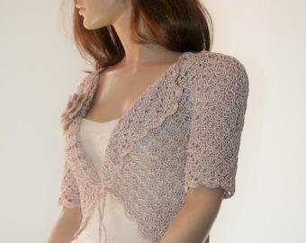 Weddings crochet bolero silk