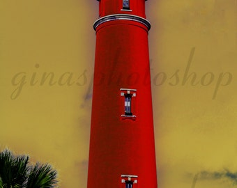 Sun Lighthouse Poster Size up to 31 x 46.9