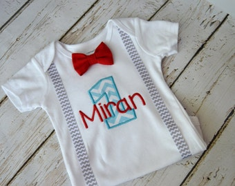 Baby Boy First Birthday Outfit, Personalized First Birthday, Birthday Outfit, Baby Boy Cake Smash, First Birthday Outfit, Baby Boy Birthday