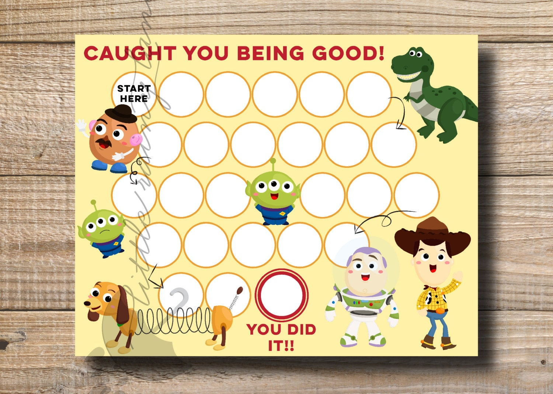 Toy Story Sticker Chart : Kids reward chart toy story printable