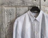 Mens Shirt Mens Bluish Shirt Dress Shirt Short Sleeve Buttoned, Casucci, XL Fit Shirt  Clothing Mens clothing mens fashion casual shirt