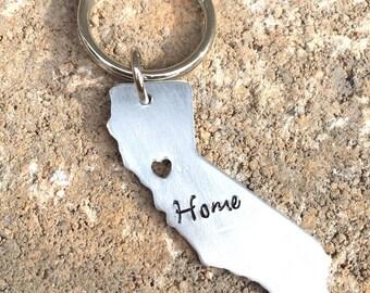 CUSTOM STATE Key chain / Home Sweet Home /Cut-Out Heart Keychain
