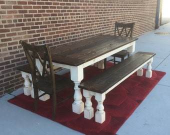Reclaimed Wood Farmhouse Dining Tables and by WonderlandWoodworks