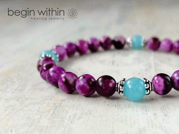Amplify Your Intuition Sugilite Bracelet / Crystal Healing Bracelet / Yoga Bracelet / Reiki Bracelet / Wicca Bracelet
